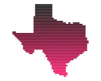 Map of Texas. In purple lines Vector Illustration