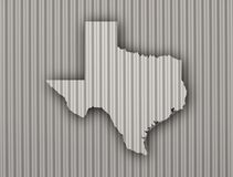 Map of Texas on corrugated iron. Colorful and crisp image of map of Texas on corrugated iron Stock Image