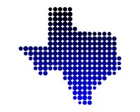 Map of Texas. Detailed and accurate illustration of map of Texas Stock Images
