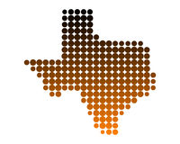 Map of Texas Royalty Free Stock Photography