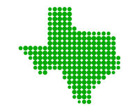 Map of Texas. Detailed and accurate illustration of map of Texas Royalty Free Stock Images