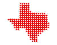 Map of Texas. Detailed and accurate illustration of map of Texas Royalty Free Stock Photography