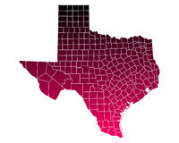 Map of Texas Royalty Free Stock Photo