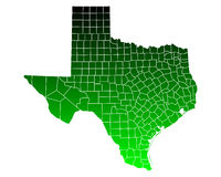 Map of Texas. Detailed and accurate illustration of map of Texas Royalty Free Stock Photo