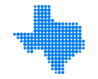 Map of Texas. Detailed and accurate illustration of map of Texas Royalty Free Stock Image