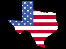 Map of Texas with flag Stock Image