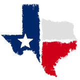 Map of Texas. Grunge map flag of Texas