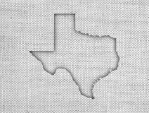 Map of Texas on old linen. Colorful and crisp image of map of Texas on old linen royalty free stock photography