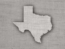 Map of Texas on old linen Royalty Free Stock Photo