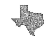 Map of Texas on poppy seeds. Colorful and crisp image of map of Texas on poppy seeds royalty free stock photo
