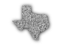Map of Texas on poppy seeds. Colorful and crisp image of map of Texas on poppy seeds royalty free stock image