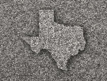 Map of Texas on poppy seeds. Colorful and crisp image of map of Texas on poppy seeds stock photography