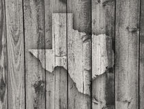 Map of Texas on weathered wood. Colorful and crisp image of map of Texas on weathered wood royalty free stock image