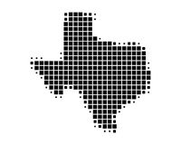 Map of Texas. On white Stock Photography
