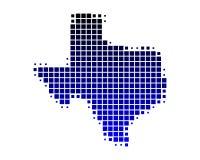 Map of Texas. On white Stock Photo