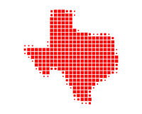 Map of Texas. On white Stock Photos