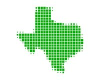 Map of Texas. On white Royalty Free Stock Images