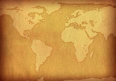 Map textured old paper Royalty Free Stock Images