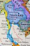 Map of Thailand. The capital city of Thailand is Bangkok stock images