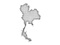 Map of Thailand on old linen. Colorful and crisp image of map of Thailand on old linen vector illustration