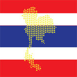 Map thailand. Map star thailand on blue background Stock Images