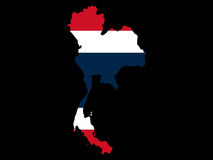 Map of Thailand and Thai flag. Illustration Stock Photography