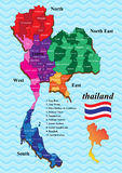 Map thailand Stock Photography