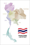 Map Thailand. Stock Photo