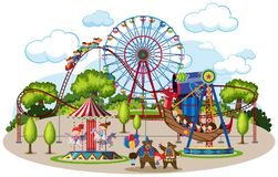 A map of theme park. Illustration royalty free illustration