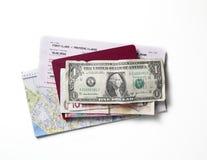 Map ticket money Royalty Free Stock Image