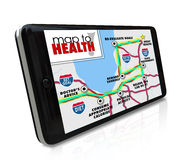Map to Health Navigation Tool Resource App Smart Phone Royalty Free Stock Images
