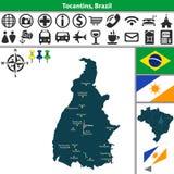 Map of Tocantins, Brazil Stock Photos