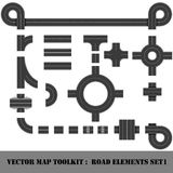 Map Toolkit. Top View Position. Royalty Free Stock Image