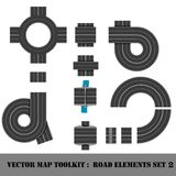 Map Toolkit. Top View Position. Royalty Free Stock Photos