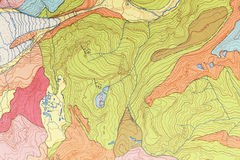 Map Topographical Royalty Free Stock Photography