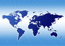 A map of tpe world Royalty Free Stock Images