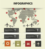 Map and transport concept infographics. Design,vector Stock Image