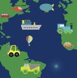 Map transport design Royalty Free Stock Photo