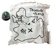 Map of the treasure Royalty Free Stock Images