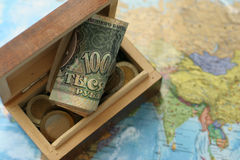Map & treasure Royalty Free Stock Photo