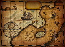 Map of Treasure Island Stock Photography
