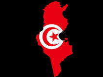 Map of Tunisia Stock Photos