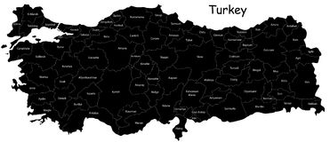 Map of Turkey vector illustration