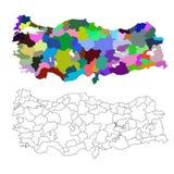 Map of Turkey Stock Image