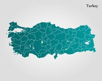 Map of Turkey. Vector illustration. World map Royalty Free Stock Image