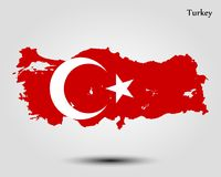 Map of Turkey. Vector illustration. World map Stock Images