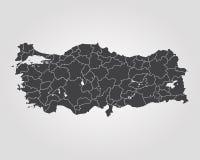 Map of Turkey. Vector illustration. World map Royalty Free Stock Photo