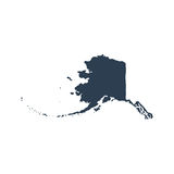 Map of the U.S. state  Alaska Royalty Free Stock Photography
