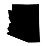 Map of the U.S. state Arizona Royalty Free Stock Photo