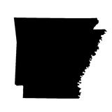 Map of the U.S. state Arkansas Royalty Free Stock Image